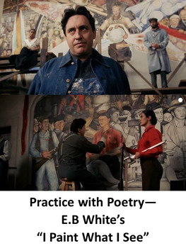 """Practice with Poetry— E.B White's  """"I Paint What I See"""""""