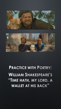 "Practice with Poetry: Shakespeare's ""Time hath, my lord, a wallet at his back"""
