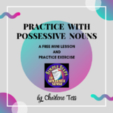 Practice with Possessive Nouns Grammar Worksheets for Dist