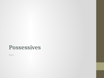 Practice with Possessives (French)