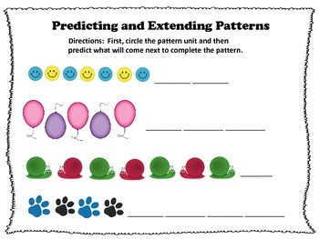 Practice with Predicting and Extending Patterns