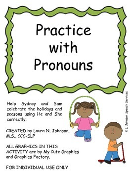 Practice with Pronouns - Revised