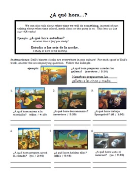 Telling Time in Spanish with Salvador Dali: A que hora vs. Que hora es