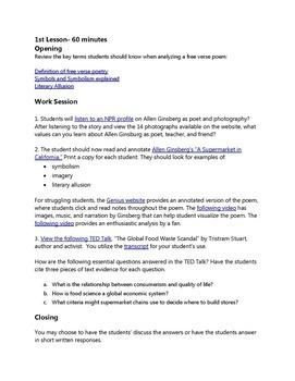 "Practice with Socratic Seminar: Allen Ginsberg's, ""A Supermarket in California"""
