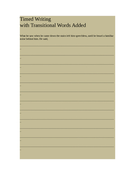 Practice with Transitional Words for Coherence