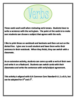 Practice with Verb Tenses