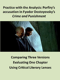 Porfiry's accusation in Crime and Punishment: Practice with Analysis