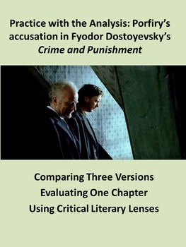 Practice with the Analysis: Porfiry's accusation in Crime