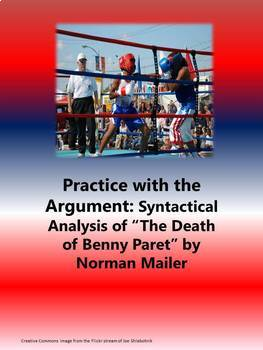 Practice with Syntactical Analysis—  Norman Mailer's The Death of Benny Paret