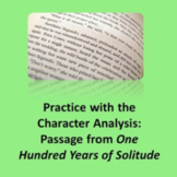 One Hundred Years of Solitude excerpt: Practice with the Character Analysis