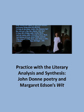 John Donne poetry and Margaret Edson's Wit: Practice with