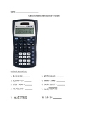 Practice with using the TI-30XIIS calculator