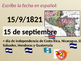 Practice writing DATES in Spanish by learning about Indepe