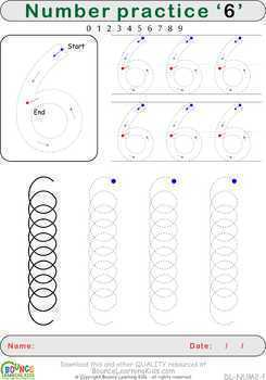 Writing numbers (10 Literacy & Hand-eye coordination sheets)
