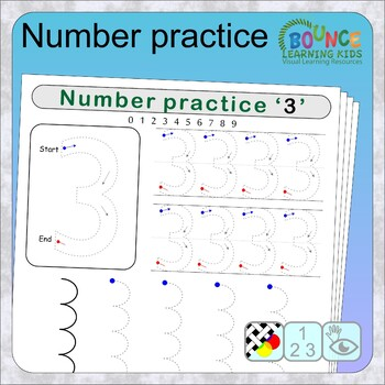 Writing numbers (10 distance learning worksheets for Literacy)