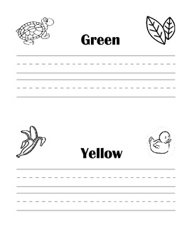 Practice writing your colors with 5 pages - 10 colors