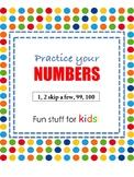 Practice your Numbers (DadaAbc Homework Worksheet)