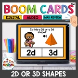 Practicing 2d and 3d Shapes Boom Cards for Kindergarten