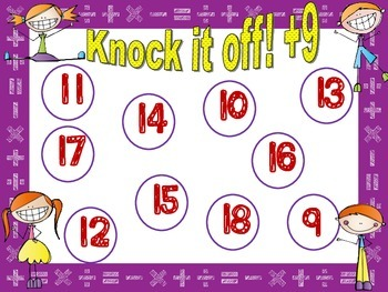 Practicing Addition Facts Nines: Knock it off 9's