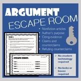 Argument Practice: Escape Room