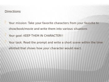 Practicing Characterization Techniques using Fan Fiction