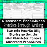 Practicing Classroom Procedures and Routines Through Writing Activities