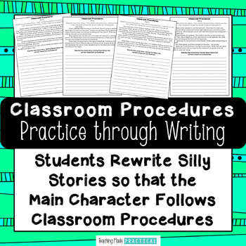 Practicing Classroom Procedures and Routines - ELA and Writing Activity