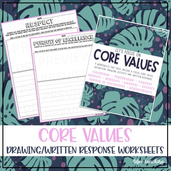 Practicing Core Values Worksheets