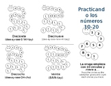 Practicing Counting and Numbers 11-20 in Spanish Mini-Booklet