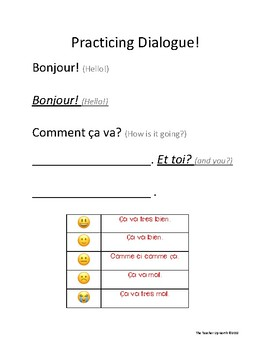 Practicing Dialogue (Comment ça va?)