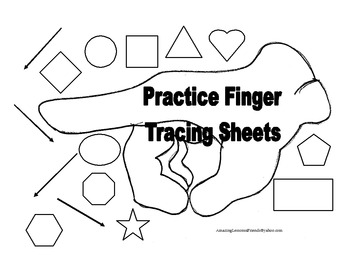 Practicing Finger Tracing Sheets