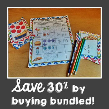 Practicing Fraction Skills Math Centers BUNDLE