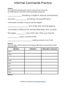 Practicing Informal Commands