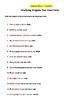 Practicing Irregular Past Tense Verbs