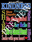 Practicing Kindness Poster-Black Background