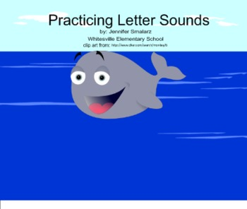 Practicing Letter Sounds Smart Notebook