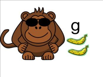 Practicing Letter Sounds Smart Notebook: Monkeys