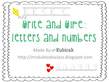 Practicing Letters and Numbers
