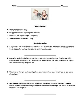 worksheet: Types Of Conflict In Literature Worksheets Screen Shot ...