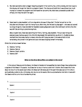 Conflicts in Literature: Practice Worksheet