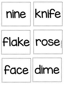 Long Vowel Practice for Grades K-2