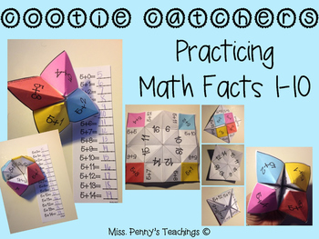 Practicing Addition Facts 1-10: Cootie Catcher