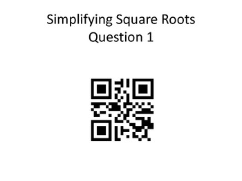 Practicing Math with QR Codes: Simplifying Square Roots