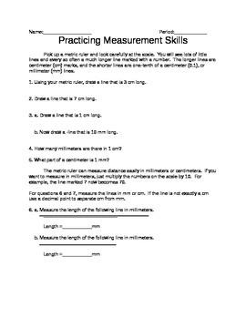 Practicing Metric Measurements