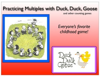 Counting and Multiples Practice Games with Duck, Duck, Goo