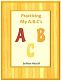 Alphabet Tracing Fine Motor Skill Pre-K K Special Education Early Childhood