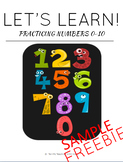 Practicing Numbers 0-20 - SAMPLE FREEBIE