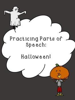 Halloween Freebie: Practicing Parts of Speech