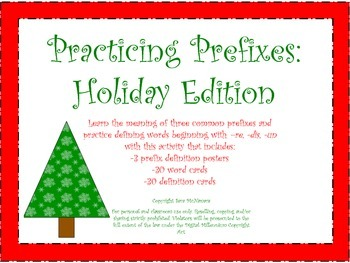 Practicing Prefixes: Holiday Edition