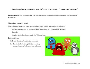 Practicing Reading Comprehension and Inference with I Need My Monster